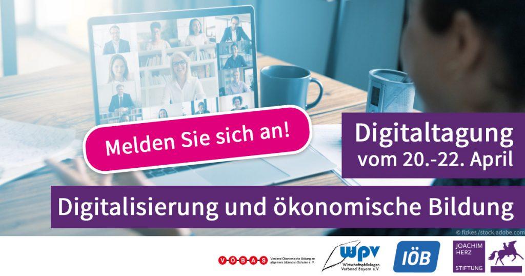 Online-Konferenz: Digitalisierung und ökonomische Bildung (20.04.-22.04.2021)